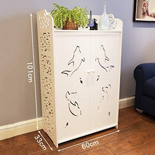 Mypnb portascarpe scarpiera for mobili da ingresso scarpiera in stile europeo for scarpiera ultrasottile semplice ripostiglio moderno armadietto for balconi deposito (size : 101cm)