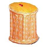 Sauna Heaters Gona Aufblasbare, tragbare Dampfsauna - 90 × 85 × 105 cm - PVC-Infrarot-Heizungs-Saunakasten 800W, 1-9 Gang-Temperatureinstellung Elektronisch gesteuert