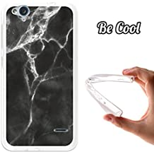 Becool® - Funda Gel Flexible para ZTE Blade S6 Flex, Carcasa TPU fabricada con la mejor Silicona, protege y se adapta a la perfección a tu Smartphone y con nuestro exclusivo diseño. Mármol Negro y Blanco