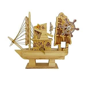 Wooden Ship Showpiece by Returnfavors