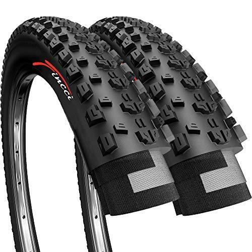 Fincci Paire 27.5 x 2.35 Pouces 60-584 Pliable Pneus pour VTT Montagne Fuoristrada Vélo Bicyclette (Un Paquet de 2)