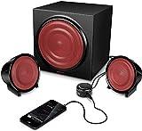 Speedlink Methron 2.1-Lautsprechersystem (Subwoofer, zwei Satellitenlautsprecher, 45 Watt RMS, Höhen- und Bassregler, Tischfernbedienung) - 3