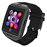 Bluetooth Smartwatch [Neue Version 1.54'' Bogensieb], LERMX Armbanduhr Smart Watch Android Uhr mit Kamera/Schrittzähler/Schlaftracker/Romte Capture Karte Gebogener Bildschirm für Android Smartphones