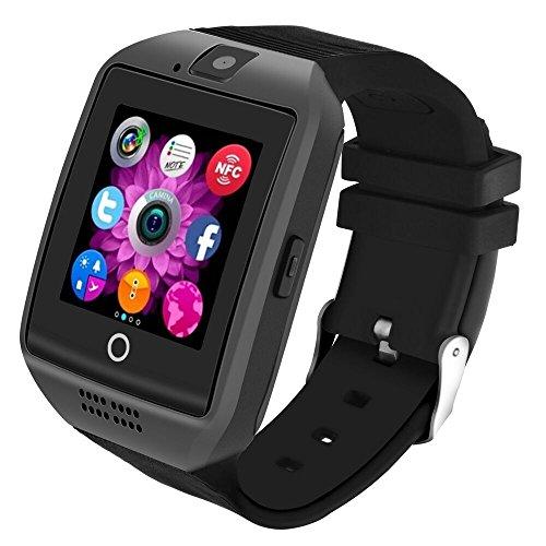 Bluetooth Smartwatch Versión 1.54'' Pantalla Curva, LERMX Smart Watch Reloj Inteligente Teléfono Inteligente Pulsera de Correa Suave Soporte SIM/TF para Smartphones Android