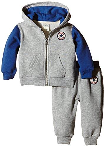 Converse Baby-Jungen Colorblocked Bekleidungsset, Grau (Vintage Grey Heather), 86 (Herstellergröße: 12-18 Months)