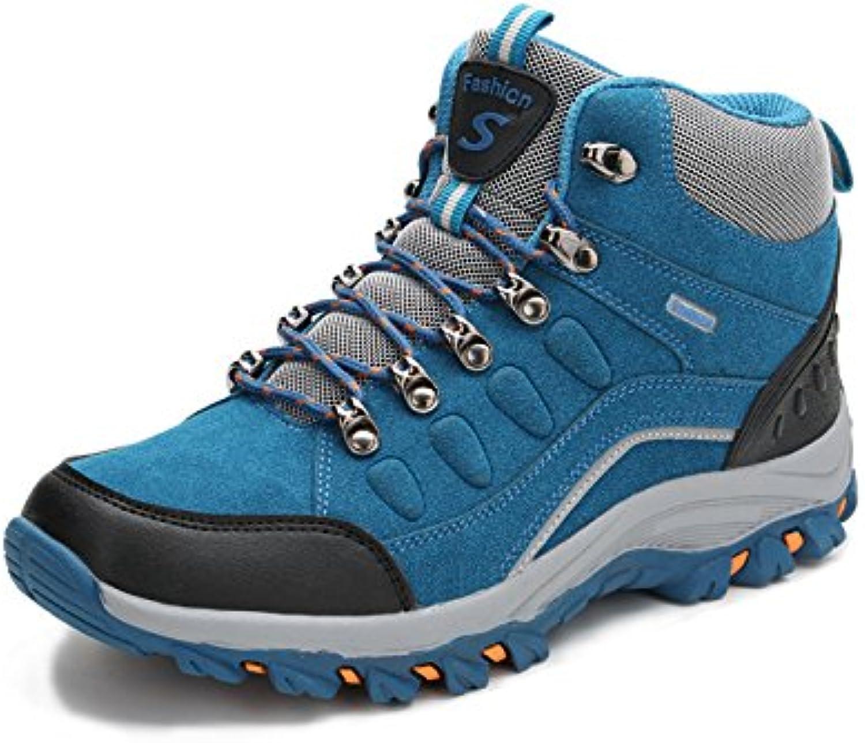 Botas De Montaña Altas para Hombre Botas De Caminar Zapatos A Prueba De Golpes Y Terciopelo Zapatos Al Aire Libre...