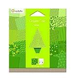 Avenue Mandarine Carta per origami, 20 fogli, 12 x 12 cm, colore: Verde