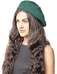 c50b7f6157f5 Plain Beret Hat 100% Wool French Beret Winter Autumn Women | Girls Fashion  Hats