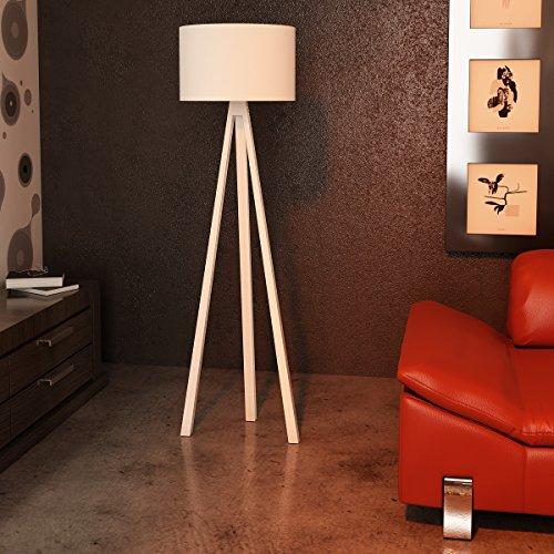 Alphamoebel 3627 Stehleuchte, MDF / Textilschirm, weiß, 150 x 40 x 150 cm