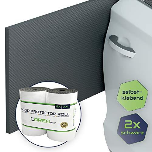 CAREApro ® Garagen-Wandschutz | Schwarz | 2er Pack je 2m Lag | Extra Stoßfest | Selbstklebender Türkantenschutz Auto