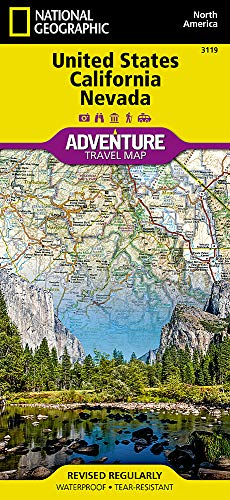 United States, California and Nevada (National Geographic Adventure Travel Map, Band 3119)