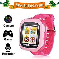 kids Juego chicos pantalla tactil reloj inteligente para niños niñas niños con camara Juegos Podometro temporizador despertador Toy SmartWatch reloj monitor de salud