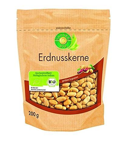 Clasen Bio Erdnusskerne geröstet, gesalzen, 8er Pack (8 x 200 g)