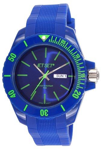 Jet Set–J83491-12Bubble Rubber Strap Unisex Watch–Analogue Quartz–Blue Dial–Blue
