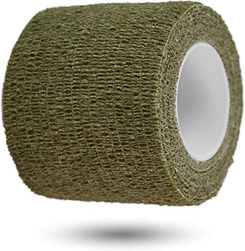 normani Survival Tarnband Gewebeklebeband selbsthaftend zur Tarnung von Outdoor Ausrüstungsgegenständen 5 cm x 4,5 m Rolle Farbe Oliv
