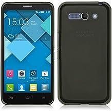 TBOC® Funda de Gel TPU Negra para Alcatel One Touch Pop C9 7047A 7047D de Silicona Ultrafina y Flexible