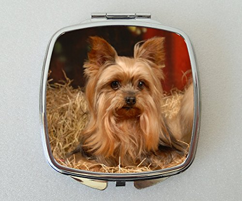 Starprint Sublimation Yorkshire Terrier Miroir Compact Fantaisie Cadeau