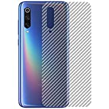 Valueactive Mi A3 Back Screen Protector Film Carbon Fiber Finish Ultra Thin Scratch Resistant Safety Protective Film for Xiaomi Mi A3