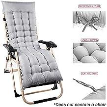 Cojín de repuesto para tumbona de jardín, patio, silla gruesa, almohadillas de relajación