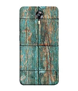 PrintVisa Designer Back Case Cover for Micromax CanvasNitro4G E371 (Old Wooden Plank In Blue Colour)
