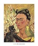Self-Portrait with Monkey and Parrot, 1942 von Frida Kahlo Kunstdruck