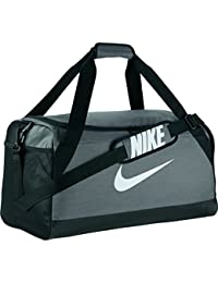 Nike Nk Brsla M Duff Bolsa de Deporte, Hombre, Gris (Flint Grey / Black / White), Talla Única
