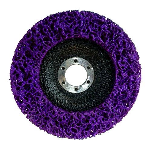 Reinigungsscheibe Grobreinigungsscheibe CSD Ø 125mm CBS für Winkelschleifer Clean Strip Disc Nylongewebescheibe Lila