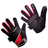 Indigo Lightweight Pro Cycling Gloves, Black / Red (LARGE)