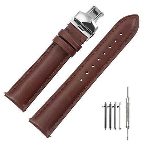 Quick Release Cinturino 20mm Orologi Bracciale Banda Alta Qualità Vera Pelle Deployante Fibbia Super Morbido Uomini Donne 18mm 19mm 20mm 22mm