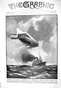 Bateau 1915 de la Mer Du Nord de Blocus de Zeppelin Allemagne Helena