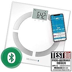 Medisana BS 444 connect, digitale Körperanalysewaage 180 kg, Personenwaage zur Messung von Körperfett, Körperwasser, Muskelmasse und Knochengewicht, Körperfettwaage mit Körperanalyse App