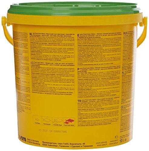 sera 07159 pond color sticks 10 l – das Farbfutter für Teichfische mit 4 % Krill - 4