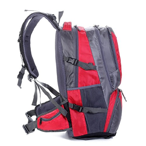 LQABW Wandern Im Freien Schulter Wasserdicht Polyester Atmungsaktiv Bergsteigen Tasche Sport Rucksack 42L Green