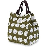 Laat - Bolsa con aislamiento térmico para alimentos, lonchera de lona, impermeable, portátil; bolsa de mano porta alimentos, 5 colores para su elección Hedgehog