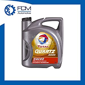 Total quartz 9000 5w 40 motor oil 5l bottle for Total quartz motor oil