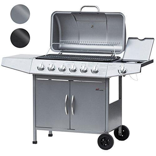 Broil-master–Barbecue a gas BBQ Argento per Parrillada qualità certificata TÜV...