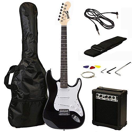 RockJam RJEG02-SK-BK - Kit de guitarra eléctrica