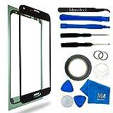 MMOBIEL Kit de remplacement vitre frontale pour Samsung Galaxy S5 Mini G800 Series (Noir) écran tactile inclus: outil 11 de pièce avec Pincette/autocollant pré-découpé/Chiffon/fil métallique