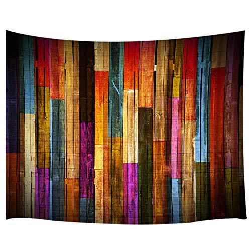 e Wandbehang Grunge Rustikale Planks Scheunenhaus Holz Kunstdruck, Wandteppich, Kunst für Zuhause, Wohnzimmer, Schlafzimmer, Wohnzimmer, Schlafzimmer, Tagesdecke, 180,9 x 152,4 cm ()