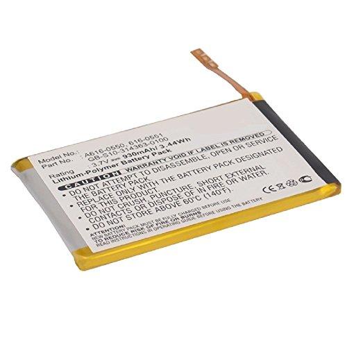 subtel® Batterie Premium Compatible avec Apple iPod Touch 4 Gen. - A1367 (930mAh) 616-0550,616-0551,GB-S10-314363-0100,616-0552 Batterie de Rechange, Accu Remplacement