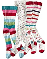 wellyou, Kinder-Strumpfhosen für Mädchen 3er Set, Baby-Strumpfhosen ecru, hoher Baumwoll-Anteil, Größe 62 - 146