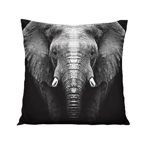 xMxDESiZ - Funda de cojín con Estampado de Elefantes en 3D