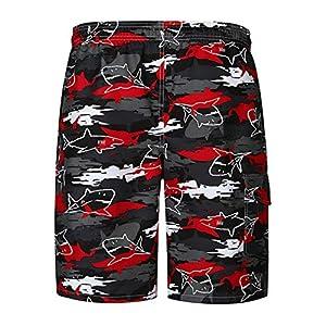 Jiobapiongxin Bequeme Bunte Gedruckte Hosen-Mode-Sommer-Strand-Kurze Jungen