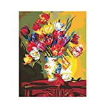Fenteer DIY Painting by Numbers for Adults Paint by Number Kits Drawing With Brushes Paint Suitable for All Skill Levels 40x50cm
