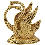Craftam® Oxidize Metal Decorative Golden Swan Duck Shape Napkin, Tissue Paper Holder for Dining Table (Size L*B*H :10 x 7 x 11 cm, Golden)