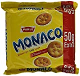 #6: Parle Monaco Crispy Light Salty Classic Regular Snack, 250g with 200g and Extra 50g