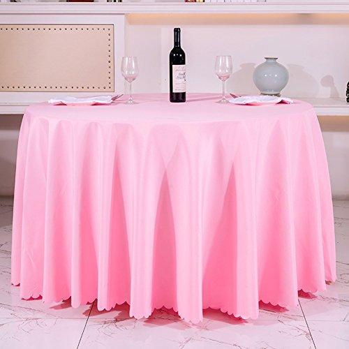 Very good KHotel Tischdecken Runden Tischdecke,Dickes Reines Schwarzem Tisch Tuch,Tischdecke Stoff Hochzeitshotel-J 140x180cm(55x71inch)