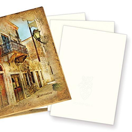 Mappe mit GOHRSMÜHLE Briefpapier (100 Blatt) DIN-A4 210 x 297 mm, 90 g/qm, mit Wasserzeichen - naturweiß