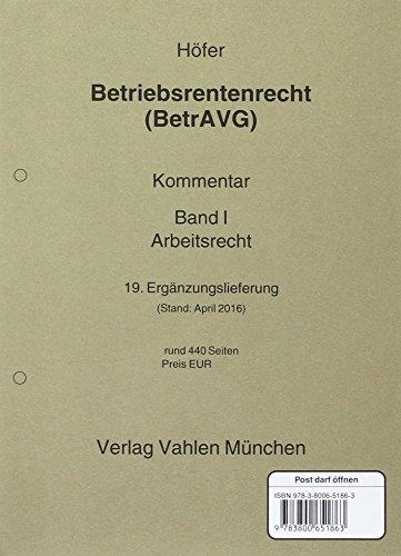 hofer-betriebsrentenrecht-bd-1-19-el