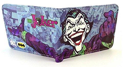 Producto oficial de DC Batman The Joker sonriente tipo cartera